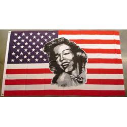 drapeau usa marilyn monroe pin up blonde 150x90 flag