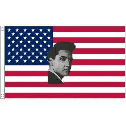 drapeau usa elvis presley americain rock roll flag 150x90
