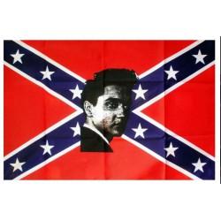drapeau rebel elvis presley king rock roll 150x90  flage