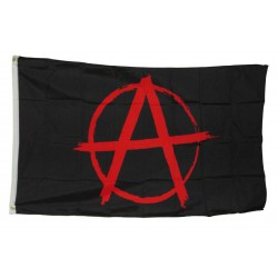 drapeau anarchy noir logo rouge punk rock roll 150x90 nylon