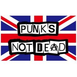 drapeau punk not dead sur fond anglais 150x90 flag