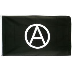 drapeau anarchy noir logo blanc punk rock roll 150x90 nylon
