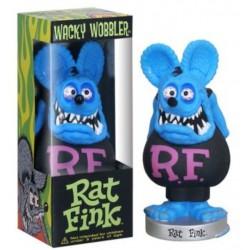 figurine rat fink tete bleu corp noir statuette bobble head