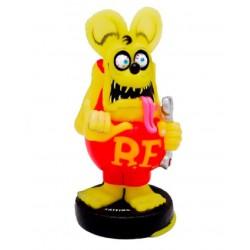 figurine rat fink clé tete jaune pale corp rouge statuette