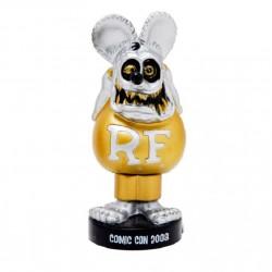 figurine rat fink tete grise corp doré rare statuette bobble