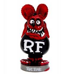 figurine rat fink tet rouge corp noir statuette bobble head