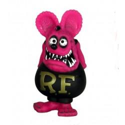 figurine rat fink tete rose corp noir statuette bobble