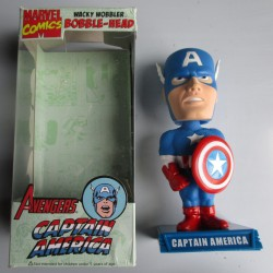 figurine captain america super hero statuette bobble head