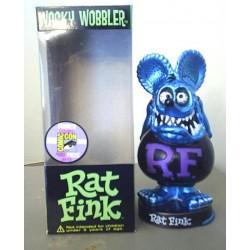 figurine rat fink tete bleu metal  corp noire rare statuette