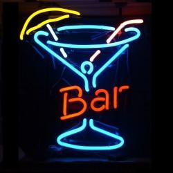 néon publicitaire bar verre a cocktail pub diner restaurant