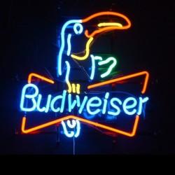 néon publicitaire budweiser pélican biere beer bar diner usa
