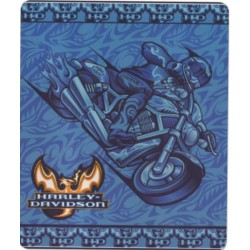 plaid harley davidson moto bleu 150cm ideal canapé salon
