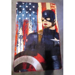 plaid super hero captain america 150x100cm  chambre enfant