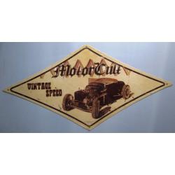 plaque tole épaisse motorcult vintage speed 71cm hot rod us