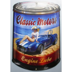 plaque tole épaisse bidon d'huile classic motors ac cobra us
