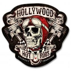plaque tole épaisse hollywood hot rod crane biker lunette us