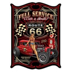 plaque tole épaisse hot rod full service route 66 usa loft