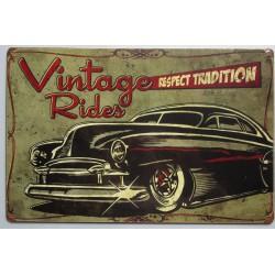 plaque tole épaisse vintage rides kustom hot rod leadsled