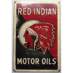 plaque tole épaisse red indian motor oils deco garage usa