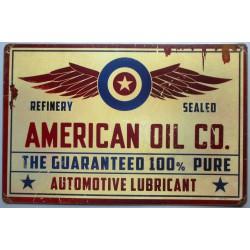 plaque tole épaisse american oil co 44cm deco garage usa