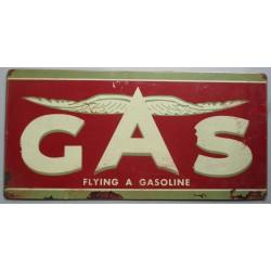 plaque tole épaisse GAS flying gasoline 60cm garage usa