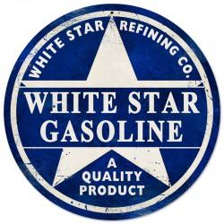 plaque tole épaisse white star gasoline deco garge loft usa