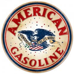 plaque tole épaisse american gasoline 35cm déco garage