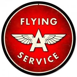 plaque tole épaisse flying gasoline service déco garage usa