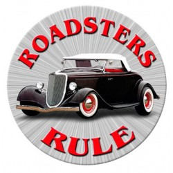 plaque tole épaisse roadster rules hot rod classic usa ford