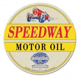 plaque tole épaisse speedway motor oil déco garage usa loft