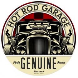plaque tole épaisse hot rod garage genuine déco garage us