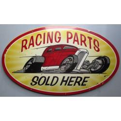 plaque tole épaisse hot rod  racing parts sold 61cm ovale us