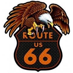 Tole Aigle Www 66 Blason Route Usa Épaisse Plaque Kiker Road ZXkPiuO