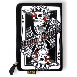 pochette à maquillage king of fools poker trash pin up rock