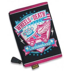 pochette à maquillage wheels of death roller pin up rockab