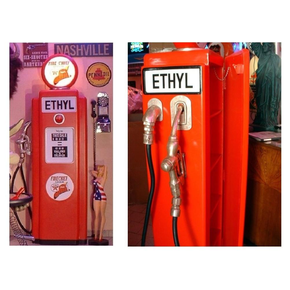 Meuble Pompe A Essence : pompe essence texaco ethyl deco garge loft meuble bois et ~ Teatrodelosmanantiales.com Idées de Décoration