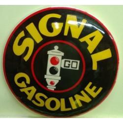 plaque bombé signal gasoline 31cm