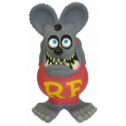 tirelire rat  fink 60cm gris RARE