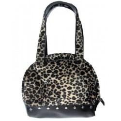 sac à main léopard et noir pin up rockabilly rock roll purse
