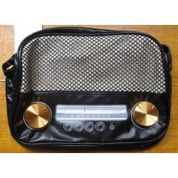 sac a main grande radio noir style retro pin up purse