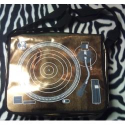 sac a main rockabilly tourne disque doré style retro pin up