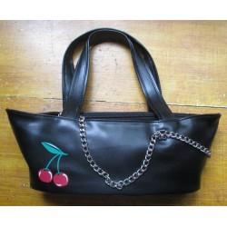 sac à main bateau cerise rockabily pin up rock roll purse