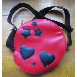 sac a main crane fillette rouge style rockroll gothique punk