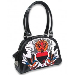 petit sac a main liquor brand sacred heart coeur flammes
