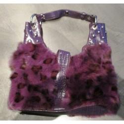sac a main leopard violet moumoutte pin up retro drole