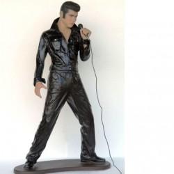 statue geante elvis presley vetements noirs taille réel bar