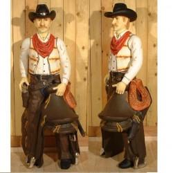 statue géante cowboy taille réel deco bar diner loft usa