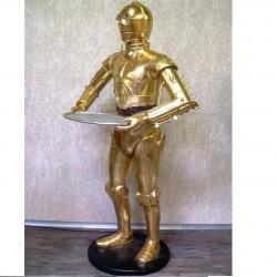 statue star warrs C3PO la guerre des étoile déco taille réel