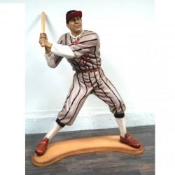 statue géante joueur de baseball taille réel deco diner bar