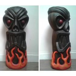 statue geante tiki à flammes 180cm deco bar diner loft usa